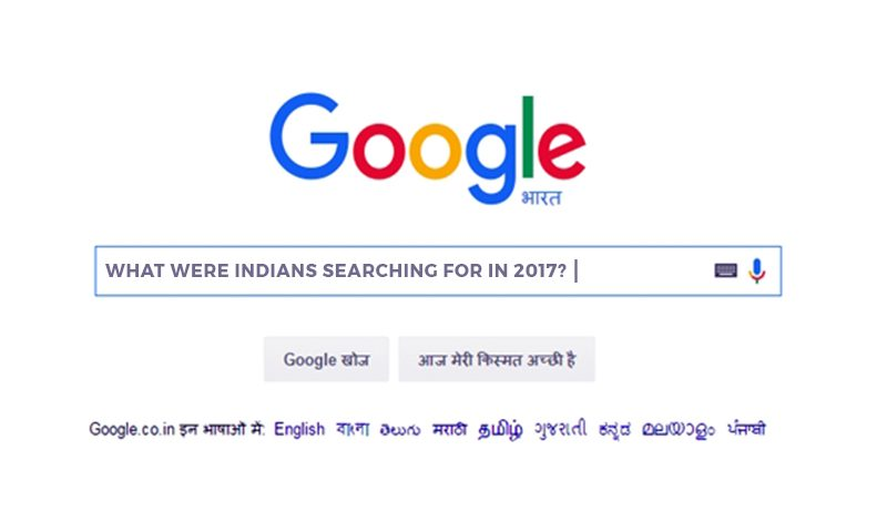 What were Indians searching for in 2017