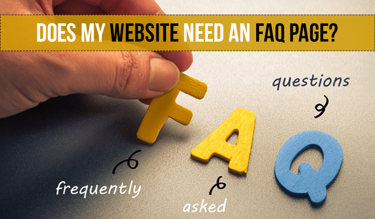 Does my website need an FAQ page